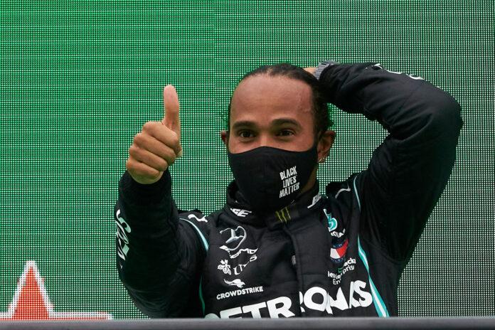 Lewis Hamilton vant søndagens Portugal Grand Prix, og passerte dermed Michael Schumacher som tidenes mestvinnende formel 1-fører. (Fotos: Mercedes)