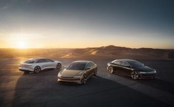 Lucid Air har kommet med den amerikanske prisen på grunnversjonen av elbilen, og den blir ganske så eksakt like dyr som en Tesla Mode S. (Fotos: Lucid)