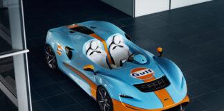 Wow, en McLaren Elva kledd i Gulf-drakt! (Fotos: McLaren)