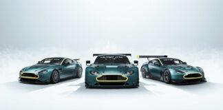Aston Martin avslutter nå racingkapitelet med den forrige generasjonen Vantage med et unikt trekløver. (Fotos: Aston Martin)
