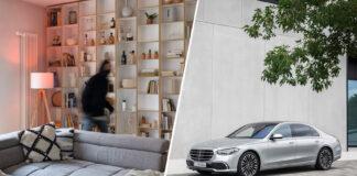Nye Mercedes S-klasse kan nå si fra om bevegelsessensorer utløses hjemme. (Fotos: Bosch/Mercedes)