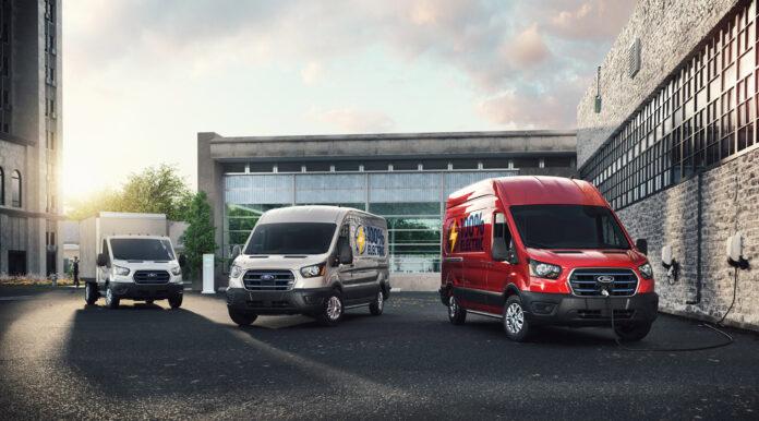 Ford satser tungt på helelektriske kjøretøy, og viser nå fram den kommende E-Transit. (Fotos: Ford)
