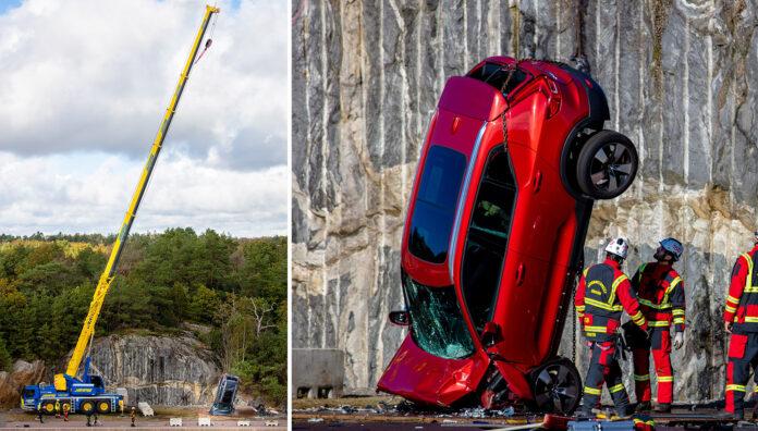 Volvo har nå gjennomført en voldsom kollisjonstest. (Foto: Volvo)