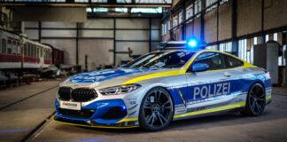 Dette er en særs imponerende politibil, en 620 hk sterk BMW M850i. (Fotos: AC Schnitzer)