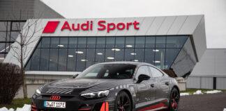 Audi e-tron GT er nå klar for produksjon, og den blir laget på en bærekraftig måte. (Fotos: Audi)
