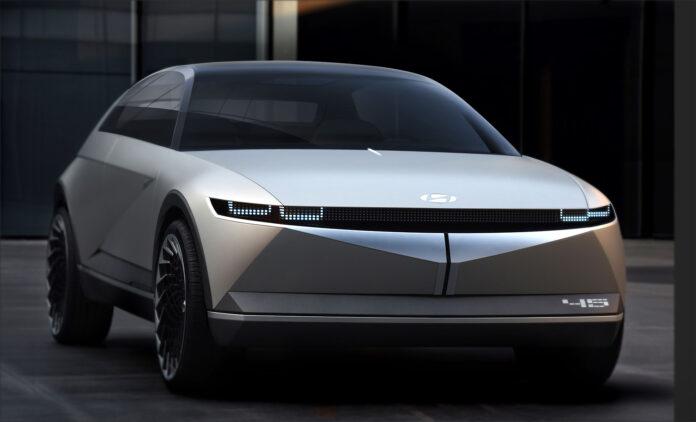 Elbilen som er basert på dette konseptet får en ganske så rask lading. (Fotos: Hyundai)