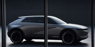 Ioniq er et nytt elbilmerke, og snart har de klart sin første bil som er basert på konseptet Hyundai 45 som er avbildet her. (Fotos: Hyundai)