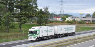 Det åpnes nå opp for modulvogntog på flere norske veier. (Foto: Håkon Aurlien, Statens vegvesen)
