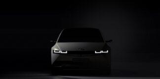 Hyundai viser nå de første bildene av den kommende elbilen Ioniq 5. (Fotos: Hyundai)