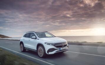 Her er en ny elbil fra Mercedes, nemlig den kompakte SUV-modellen EQA. (Fotos: Mercedes)