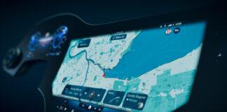 Slik ser skjermen til den kommende Mercedes EQS ut. (Fotos: Mercedes)