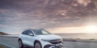 Nå har Mercedes åpnet opp salget av elbilen EQA, og prisen er også klar. (Fotos: Mercedes)