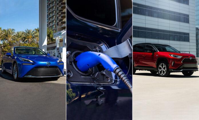 Toyota Nord-Amerika bekrefter tre nye elektrifiserte modeller, to elbiler og en ladbar hybrid. (Foto: Toyota)
