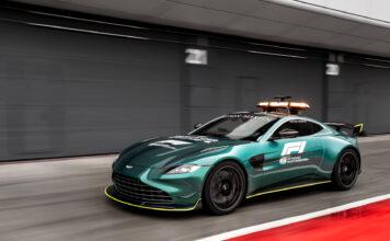 Aston Martin nøyer seg ikke bare med formel 1-biler i sitt comeback, og denne Vantage blir sikkerhetsbil. (Fotos: Aston Martin)