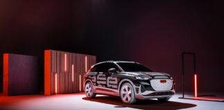 Audis elektriske «folkebil» Q4 e-tron nærmer seg nå premiere. (Fotos: Audi)