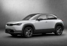 Mazda MX-30 kan både bli årets bil og årets vakreste i verden. (Fotos: Mazda)