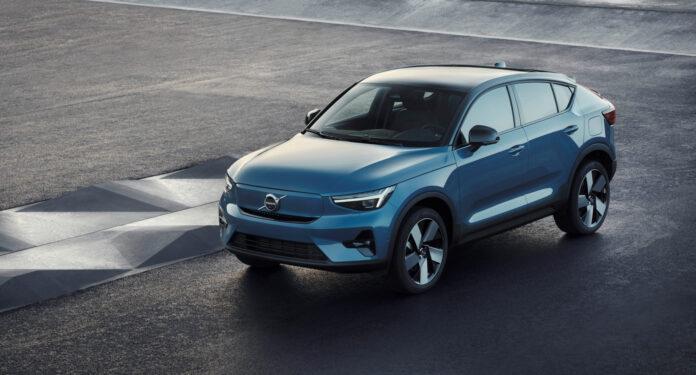 Volvo viser fram en ny elbilmodell, C40 Recharge. (Fotos: Volvo)