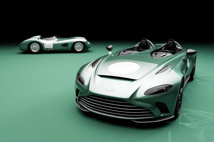 Aston Martin byr nå på en spesiell DBR1-pakke for kommende V12 Speedster. Her er begge bilene, og dette er bare vakkert! (Fotos: Aston Martin)