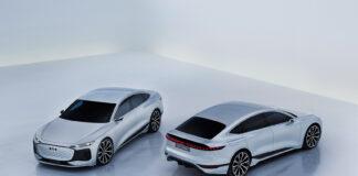 Audi viser nå fram en bil laget på PPE-plattformen, A6 e-tron concept med over 700 kilometer rekkevidde. (Fotos: Audi)