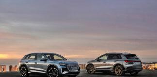 Audi Q4 e-tron har dårlig tid, og er på plass i Norge allerede i sommer. Her Q4 e-tron 50-utgaven. (Fotos: Audi)