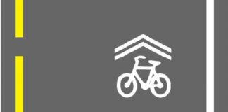 Dette symbolet kjenner du mest sannsynlig ikke til, men viser at veibanen skal deles med syklister. (Fotos: Statens vegvesen)