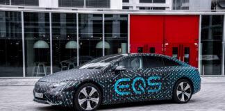 Mercedes EQS får en oppgitt rekkevidde opp mot hele 770 kilometer. (Fotos: Mercedes)