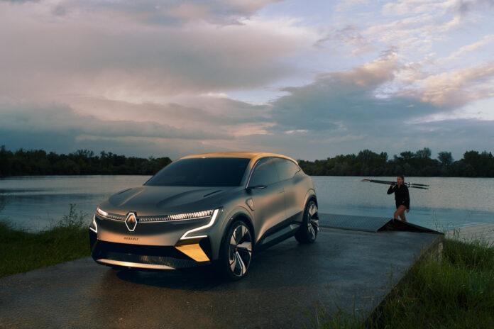 Når Renault Megane-E kommer vil toppfarten kun være på 180 km/t. Her konseptet Megane-E Vision. (Fotos: Renault)