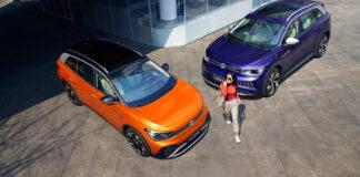 Her er to kinesiske utgaver av Volkswagen ID.6 kalt Cross og X. (Fotos: Volkswagen)