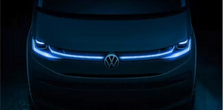 Volkswagen Multivan kommer i en ny generasjon senere i år. Dette er foreløpig det Volkswagen har vist av den nye flerbruksbilen. (Fotos: VW)