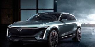 Den kommende elbilen Cadillac Lyriq er en av 10 biler som har tatt seg til finalen i kåringen av årets design 2021. (Foto: Car Design Award)