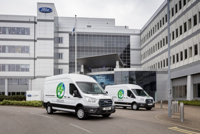 Ford kjører nå et prosjekt hvor kundene selv skal få prøve ut E-Transit før de går inn i masseproduksjon. Norge blir et av tre testland. (Fotos: Ford)