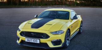 Snart er den her, den nye dronningen i Mustang-familien ‒ Mach 1-versjonen. (Fotos: Ford)
