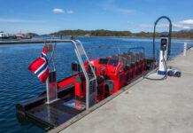 Lille Florø viser nå vei for elbåtene, for der åpnet verdens første lynlader for de helelektriske båtene onsdag. (Fotos: BKK)