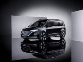 Mercedes viser nå fram konseptet av EQT, det sjette medlemmet i den rene elbilserien EQ. (Fotos: Daimler)