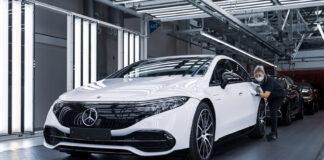 Produksjonen av Mercedes EQS er nå i gang, og superbilen er bare måneder unna. (Fotos: Mercedes)