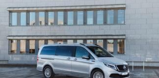 Mercedes Norge åpner nå for salg av varebilversjonen av EQV, denne over 5 meter lange store elbilen. (Fotos: Mercedes-Benz Norge)