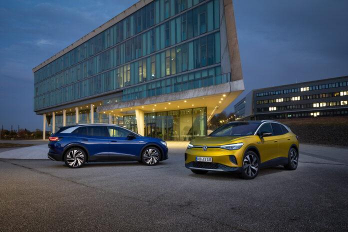 Volkswagen ID.4 var den mest registrerte elbilen i EU-26 i april. (Foto: VW)