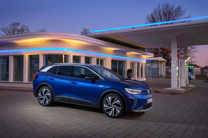 Ikke overraskende føk Volkswagen ID.4 til topps på salgslisten i april. (Fotos: Volkswagen)