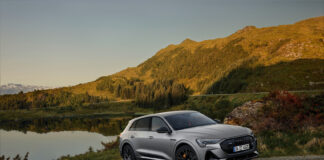 Audi har nå klar en spesialutgave av e-tron kalt S line black edition. (Fotos: Audi)