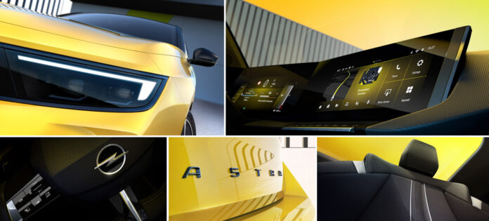 Opel Astra fornyes, og det inkluderer nye innvendig skjermer og den etter hvert så kjente Vizor-fronten. (Fotos: Opel)
