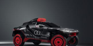 Audi har på gang en elektrisk Dakar-bil som har en TFSI-motor som rekkeviddeforlenger. (Fotos: Audi)