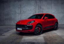 Porsche viser nå fram oppdaterte Macan-modeller, som også har fått langt flere hk enn tidligere. Her GTS-utgaven. (Fotos: Porsche)