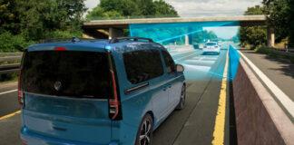 Volkswagen Caddy kommer nå med assistenter som ikke står tilbake for de i vanlige personbiler. (Fotos: Volkswagen Nyttekjøretøy)