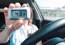 Det blir overraskende fort glovarmt i en bil som er parkert i sommersola. (Foto: NAF)