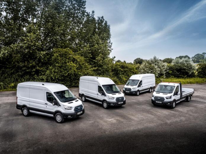 Ford gir oss nå et lite hint om de norske prisene på E-Transit. (Fotos: Ford)