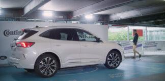 Ford viser nå fram en bil som selv kjører ned i parkeringshuset og parkerer seg. (Fotos: Ford)