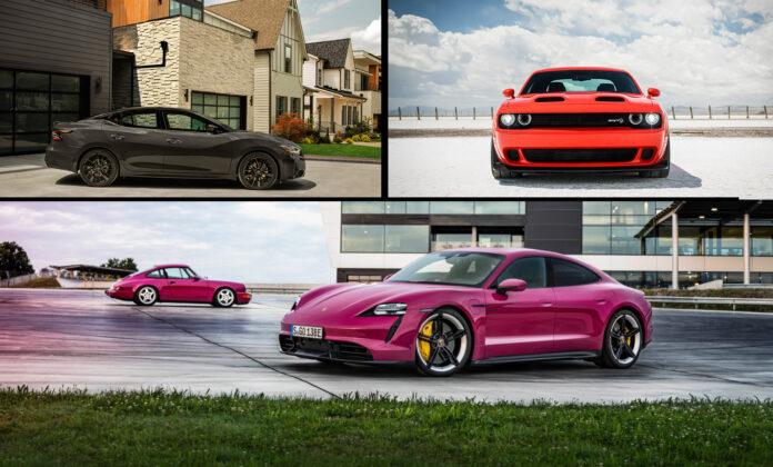 JD Power har gjennomført en ny undersøkelse som tar tempen på eiernes forhold til biler, som har hatt en positiv utvikling siden i fjor. (Foto: Porsche/Dodge/Nissan)