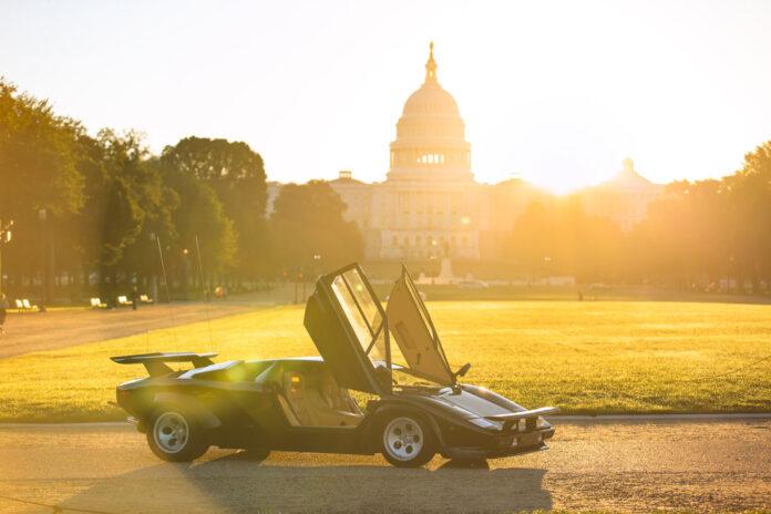 Countachen fra «Verdens sprøeste bilrace» er en nasjonal bilskatt i USA. (Fotos: Lamborghini)