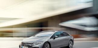 Mercedes-AMG har klar sin første elbil, og de har like godt etter flaggskipet EQS. (Fotos: Mercedes)