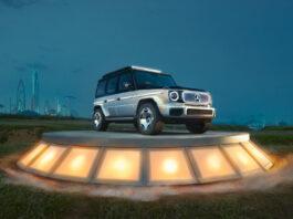 Mercedes viser fram et konsept av EQG, den elektriske søsteren til G-klasse. (Fotos: Mercedes)
